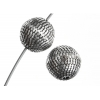 Metalized Bead with Sterling Silver coating 8mm Sand Bead